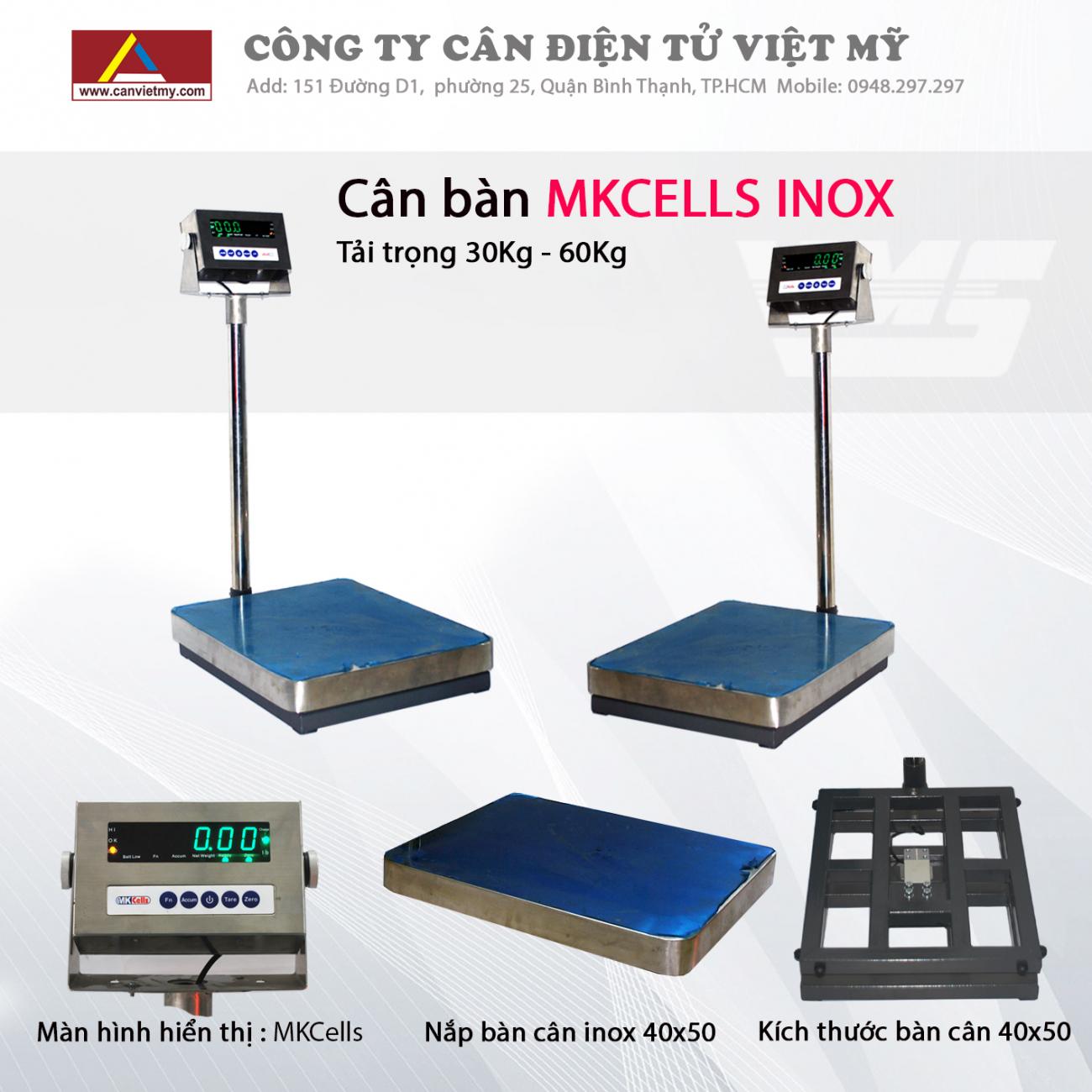 CÂN BÀN ĐIỆN TỬ INOX - MKCELL