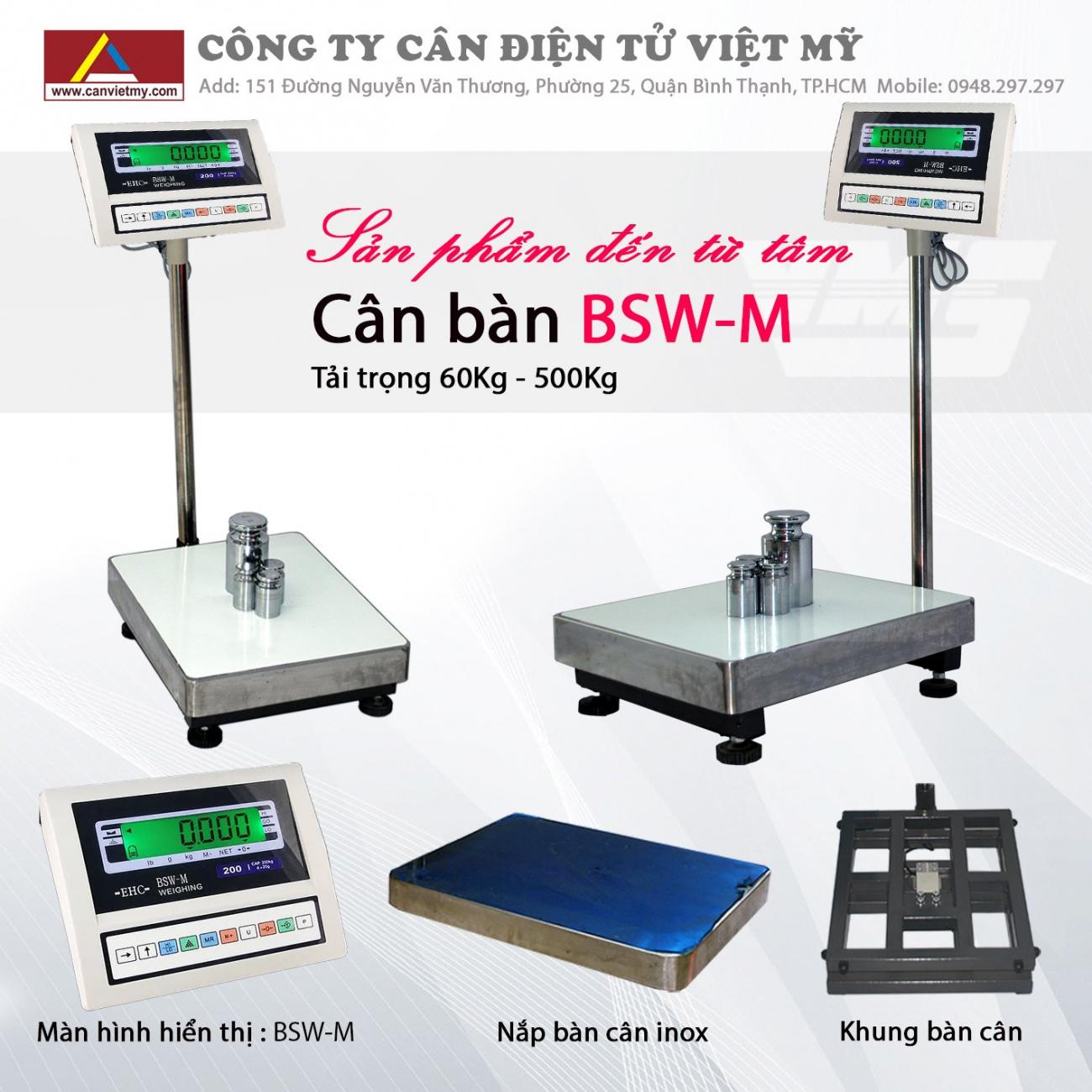 CÂN BÀN ĐIỆN TỬ BSW-M